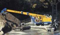 Экскаватор планировщик Антей на базе плавающего пантона