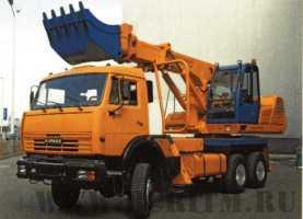 Экскаватор планировщик UDS 114/214 на шасси автомобиля КамАЗ-53228