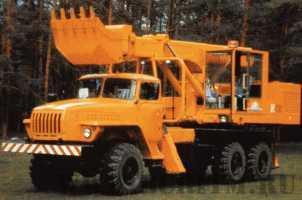 Экскаватор планировщик UDS 114/214 на шасси автомобиля Урал-4320